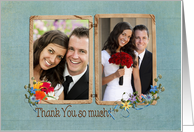 Thank You photo card for wedding gift card