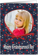 Happy Grandparents Day photo card with stars card