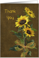 thank you sunflower bouquet card