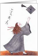You go girl! - Congratulations on your graduation card