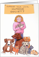 Support your local Humane Society card