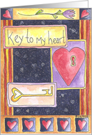 Key To My Heart card