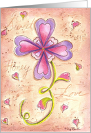 Valentine Flower card