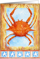 Patriotic Crab card