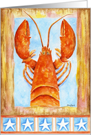 Patriotic Lobster card