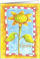 Growing Sunflower card