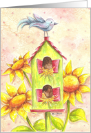Summer Birdhouse card