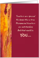 Teacher Of The Year - Abstract card