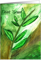 Think Green Note Card - Blank card