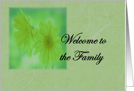 Welcome to the Family - Daughter- In -Law card