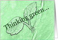 Thinking Green - Blank Note Card
