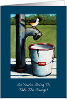 Take The Plunge, New Business Congratulations: Chickadee on Old Pump card