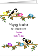 For Brother & Sister-In-Law Easter Greeting Card-Chickadees-Custom card