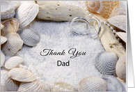 Thank You for the Wedding Greeting Card for Dad-Beach Wedding Theme card