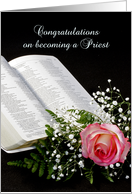 For Priest Congratulations on becoming a Priest Greeting Card-Bible card