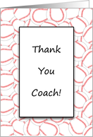 For Coach Thank You Baseball Coach Greeting Card-Baseball Background card