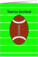 Football Party Invitation Greeting Card-Superbowl-Tailgate-Birthday card