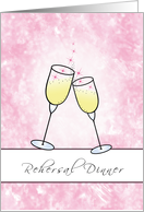 Rehersal Dinner Invitation with Champagne Glasses card