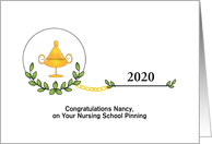 Customizable Nursing School Pinning Congratulations Card
