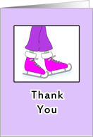 Ice Skating Thank You For Coming to My Party Card