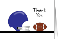 Thank You for Coming to My Party, Football and Helmet card