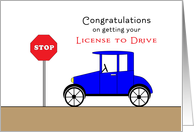 Congratulations on Getting Your Driver's License Greeting Card-Old Car card