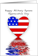 Military Spouse Appreciation Day Greeting Card-Patriotic Heart card