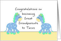 Congratulations Great Grandparents-Twin Boys card
