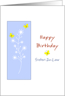Sister-In-Law Butterfly Birthday Card