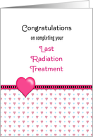 Last Radiation Greeting Card-Congratulations-Hearts card
