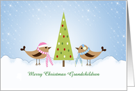 Grandchildren Christmas Card-Grandson-Granddaughter Customizable card