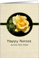 Happy Norooz Across the Miles-Persian New Year-Greeting Card