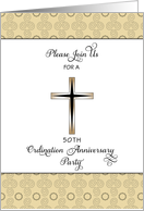 50th Ordination Anniversary Pary Invitation-Golden Jubilee Card