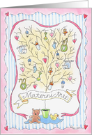 Baby Shower/ Materni -Tree card