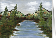 Landscape - Moutain Lake card
