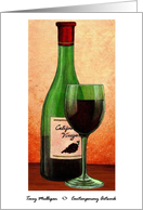 Wine Bottle & Glass card