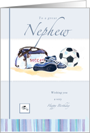 Soccer Birthday Nephew card