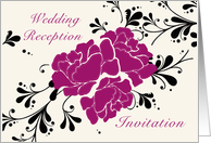 Wedding Reception Invitation card