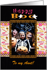 To Aunt, Happy Boo Ghosts & Candy, Halloween, Photo Card