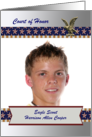Gold Eagle, Stars and Stripes Photo Card, Eagle Scout Award Ceremony card