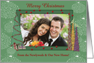 Christmas, New Home, Newlyweds, Trees, Birds & Gifts, Photo Card