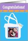 Congratulations on buying your house, House in the Bag, Photo Card