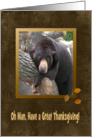 Oh Man, Have a Great Thanksgiving, Black Bear card