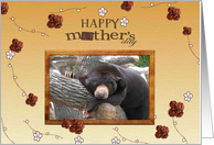 Black Bear with Flowers, Happy Mother's Day! card