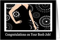 Congratulations on Your Boob Job card
