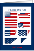 Folding our Flag, Labor Day, Invitation card