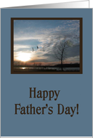 Happy Father's Day, For Step Dad, Geese Flying in the Clouds card