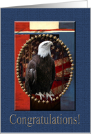Eagle with Red, White and Blue, Congratulations, Eagle Scout card