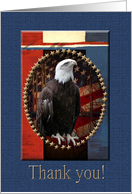 Eagle with Red, White and Blue, Thank you card