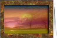 Sun Effects, At this Thanksgiving, In Remembrance card